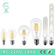LED Filament Light E27 E14 Vintage Retro LED Edison Bulb Lamp 2W 4W 6W 8W 220V
