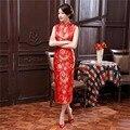 Shanghai Story  New long dragon print evening dress traditional Chinese style cheongsam qipao dress J3178