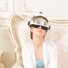2016 new wireless Eye and head together massage wireless remote Far infrared ray heating Music download English Menu Description
