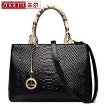 Hot & winter nueva zooler bolso bolsos de la manera de cuero de las mujeres famosas marcas bolso de cuero genuino patrón de serpentina ol #2365