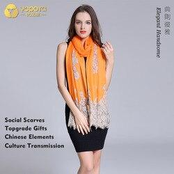 Yopota merk nieuwe pure kasjmier luxe sjaals oversized lange shawl inkiet afdrukken warm houden gratis verzending topgrade gift