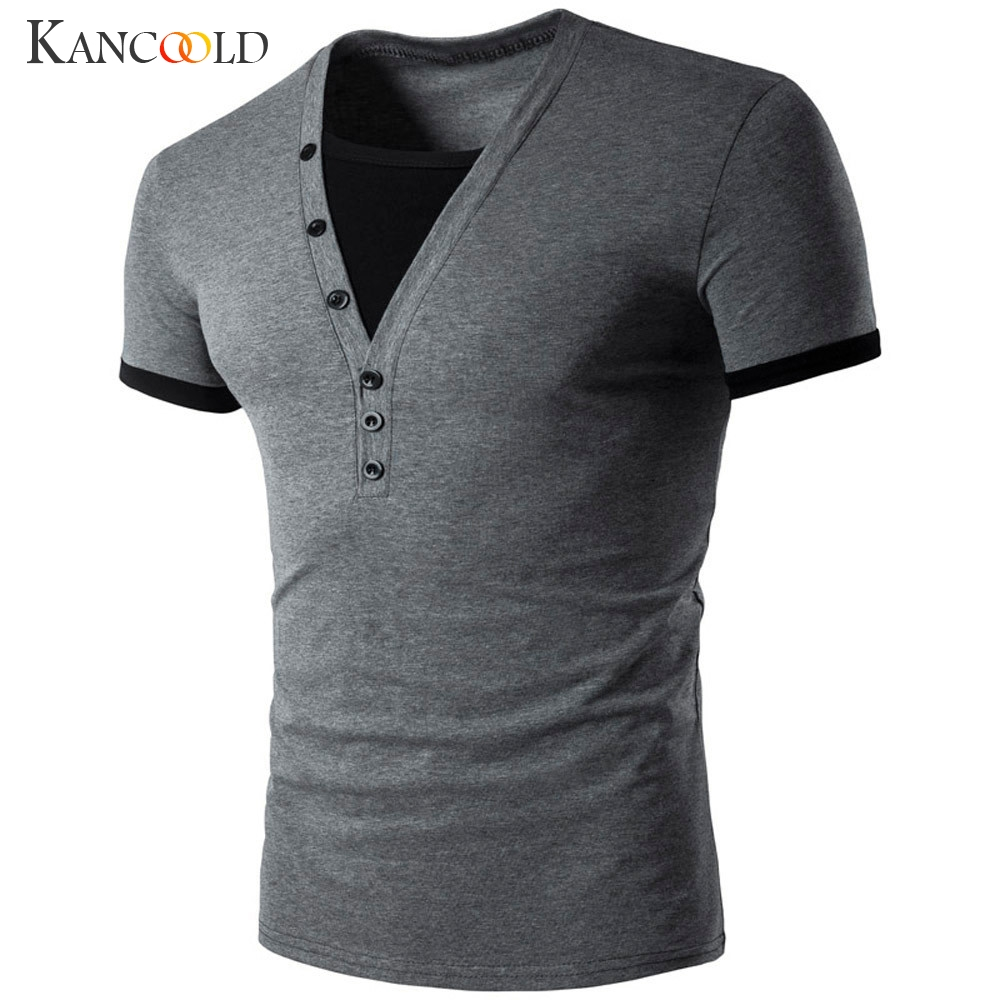 new brand t shirt men tshirt homme 2017 mens summer fashion slim fit v neck henley shirt casual. Black Bedroom Furniture Sets. Home Design Ideas
