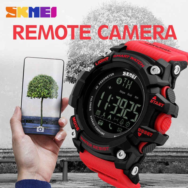 SKMEI мужские умные спортивные часы Bluetooth калории шагомер модные мужские часы мужские 50 м водонепроницаемые цифровые часы relogio masculino