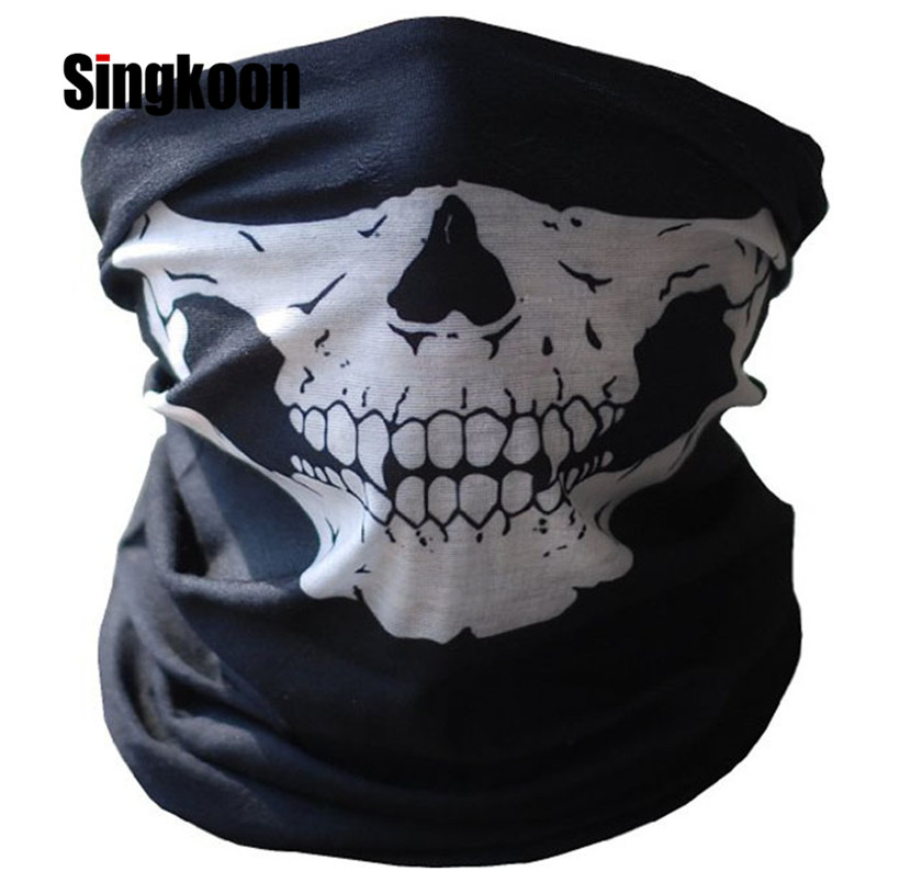 Crânio da motocicleta balaclava rosto cheio máscara quente do motor capacete forro de esqui paintball snowboard motociclista equitação rosto escudo capa