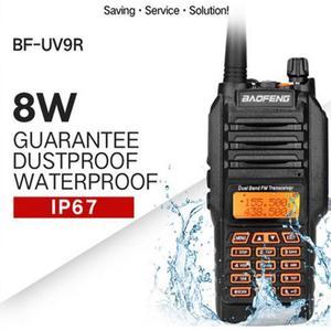 Image 2 - BaoFeng walkie talkie UV 9R, 8w, gran potencia, IP 67, radio bidireccional para caza, profesional, impermeable, con accesorios, 2018