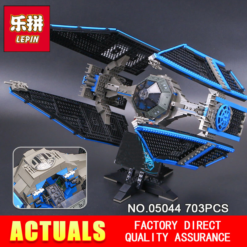 New 703pcs Lepin 05044 Star Stunning Model Wars Limited Edition The TIE Interceptor Building Blocks Bricks Toys 7181 Boys Gifts