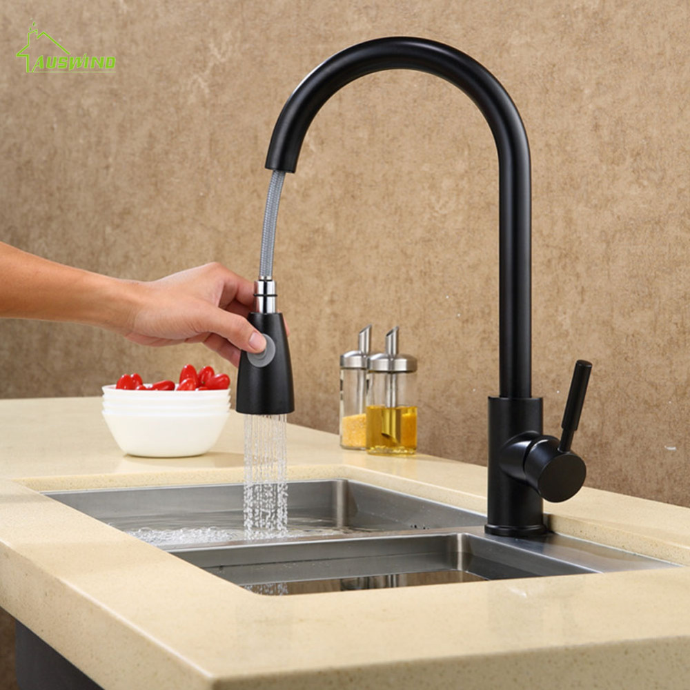 Classic White Paint Kitchen Faucet Brass Brushed Silver Crane Bathroom Basin Faucet Pull Out Single Handle Hole Mixer Water Taps цена и фото