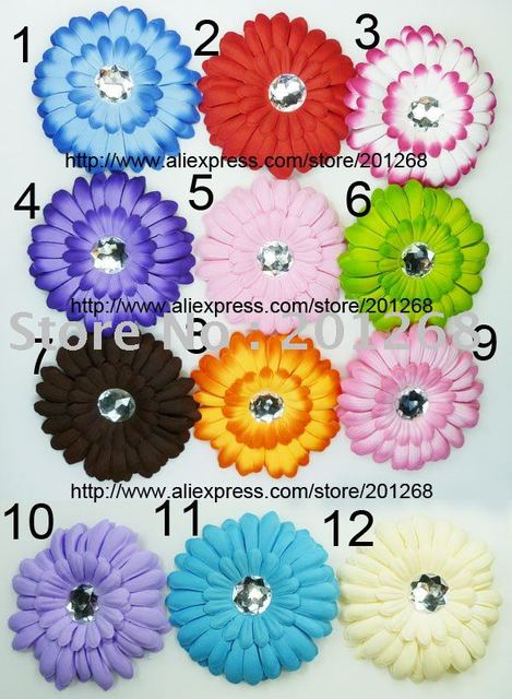 """Wholesale 4"""" gerbera daisy flower clip hair clips for baby toddler girl free shipping"""