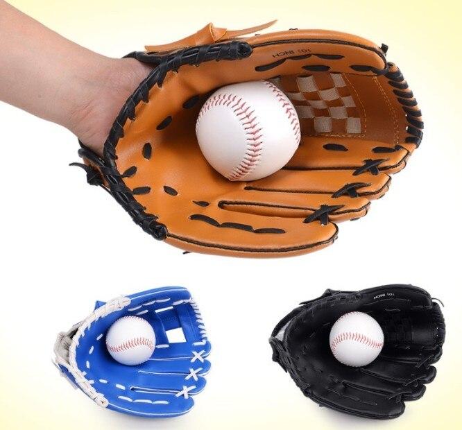 Baseball & Softball Handschuhe Sport & Unterhaltung Rational Outdoor-sportarten Braune Baseball-handschuh Softball Praxis Ausrüstung Größe 10,5/11,5/12,5 Links Hand Für Erwachsene Mann Frau Ausbildung