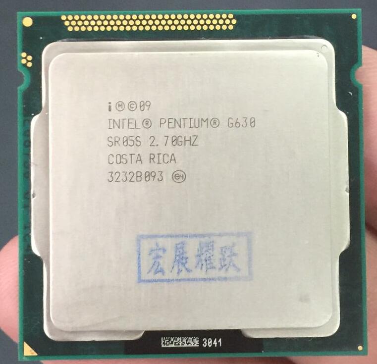 Free Shipping Intel CPU Pentium G630 3M Cache, 2.70 GHz LGA1155 TDP 65W Dual-Core PC Computer Desktop CPU