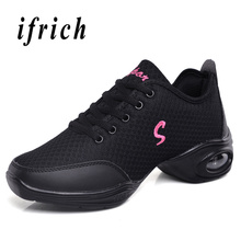 Women Dance Sneakers Big Size Dancing Shoes Light Sport Black Red For Damping for