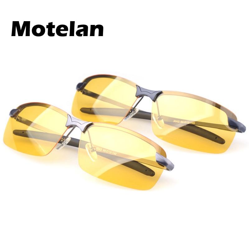 33d08926e1941 Yellow Night Vision Polarized Sunglasses Metal Frame Glasses Driving  vintage Night Vision Goggles Men s Driving Glasses