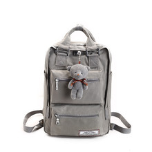 Fashion brand backpack teenage backpacks for girls school bag Backpacks Women Double Zipper Large Capacity Design Square School cheap Softback Polyester Nylon AMM841 Interior Compartment Computer Interlayer Cell Phone Pocket ZIRANYU 20-35 Litre Classic Arcuate Shoulder Strap