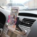 100% nueva Calidad auto universal salida de aire Del Coche del teléfono móvil soporte 58-95mm retráctil para iphone 5 6 para samsung coche styling