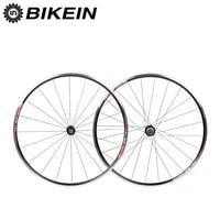 BIKEIN Ultralight Aluminum CNC 6 Bearing Cycling Road Bike Wheels 700C 14G Spokes Rim 9/10/11 Speeds V Brake Bicycle Wheelset