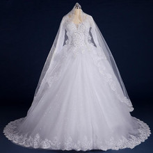 SexeMara Luxury Ball Gown Wedding Dresses Long Sleeves
