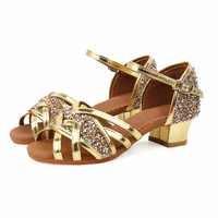 Girl's Latin Ballroom Dance Shoes Salsa Shoes Women Latin Dancing Shoes Kids Dance Shoes for performance Soft Sole VA30930