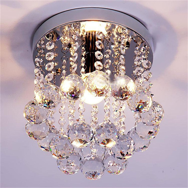 ICOCO Crystal Droplets Silver Chrome Ceiling Light Chandelier Fitting Lamp