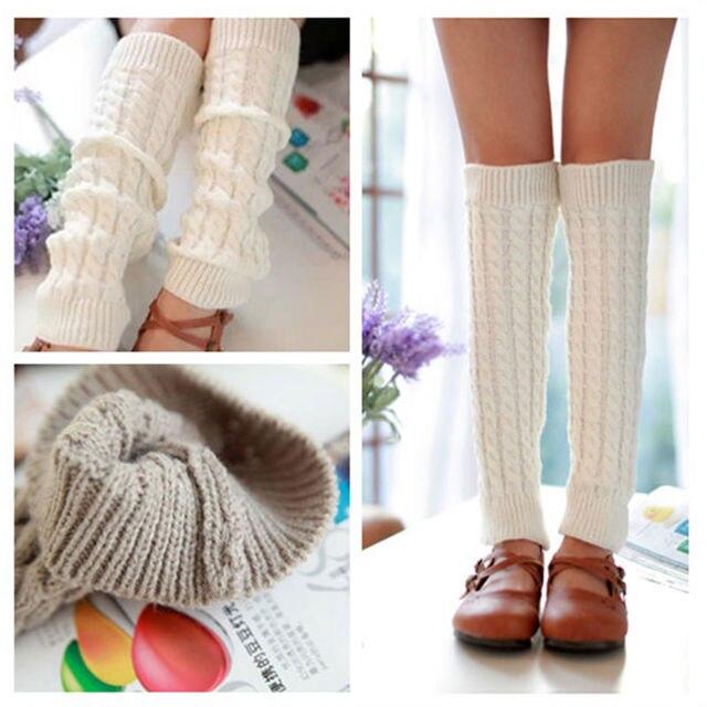 Venta superior mujeres Invierno Caliente knit crochet Calentadores ...