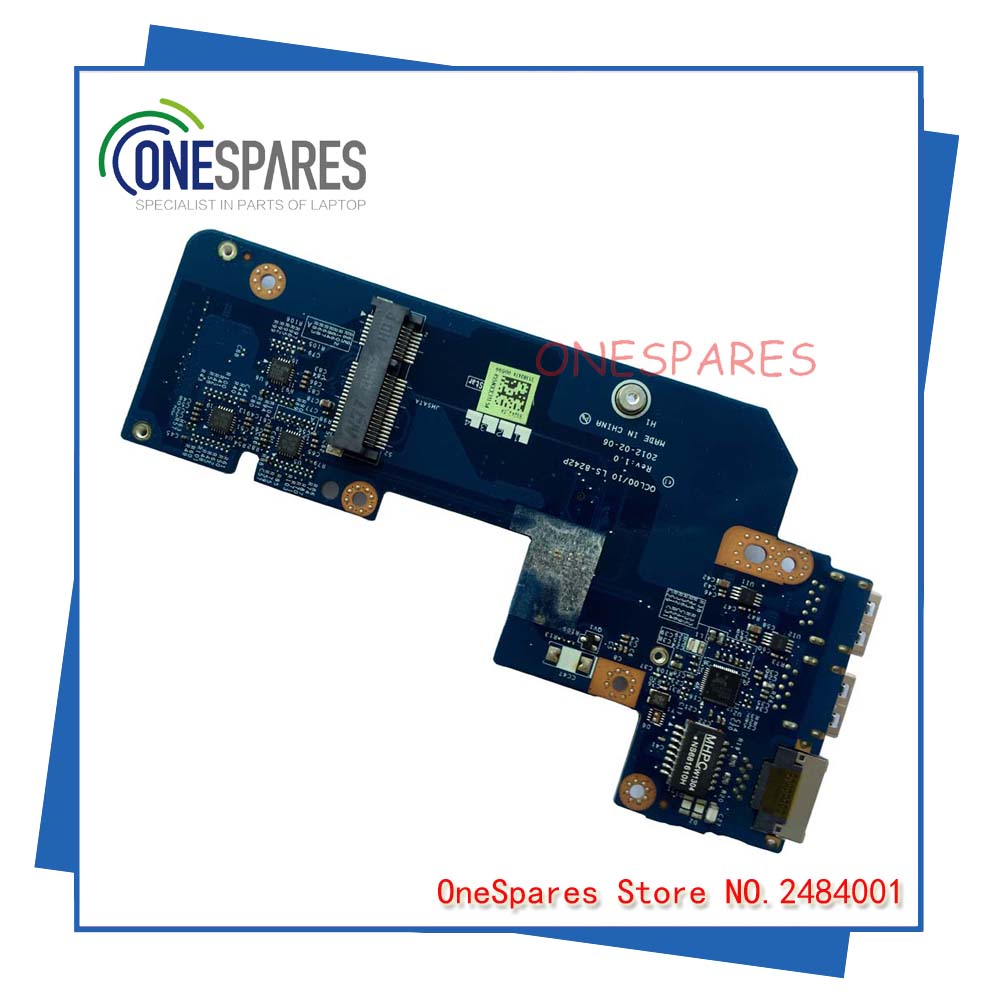 Original wholesale Without mSATA port Laptop USB board Lan board For Dell 5520 7520 962WP LS-8242P With Free Shipping Cood original m3800 usb board for dell vaubo ls 9941p cn 007df4 007df4 07df4 100