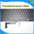"""5PCS---Brand New For MacBook Pro Retina 15.4"""" A1398 TR Turkish Turkey keyboard+100pcs keyboard screws 2013-2015 Years"""