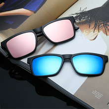 Ретро солнцезащитные очки модная квадратная форма очки Dazzle поляризованные легкие солнцезащитные очки для женщин для мужчин подходит для близорукости