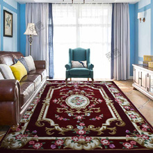 ALITEXTILEBTOC Plus Size Flower Carpet 100% Wool Carpets For Sofa Coffee Table Hand Carved Comfortable Soft Floral
