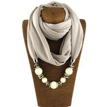 Plain multicolor fashion design scarf jewelry necklace beads pendant womens free shipping