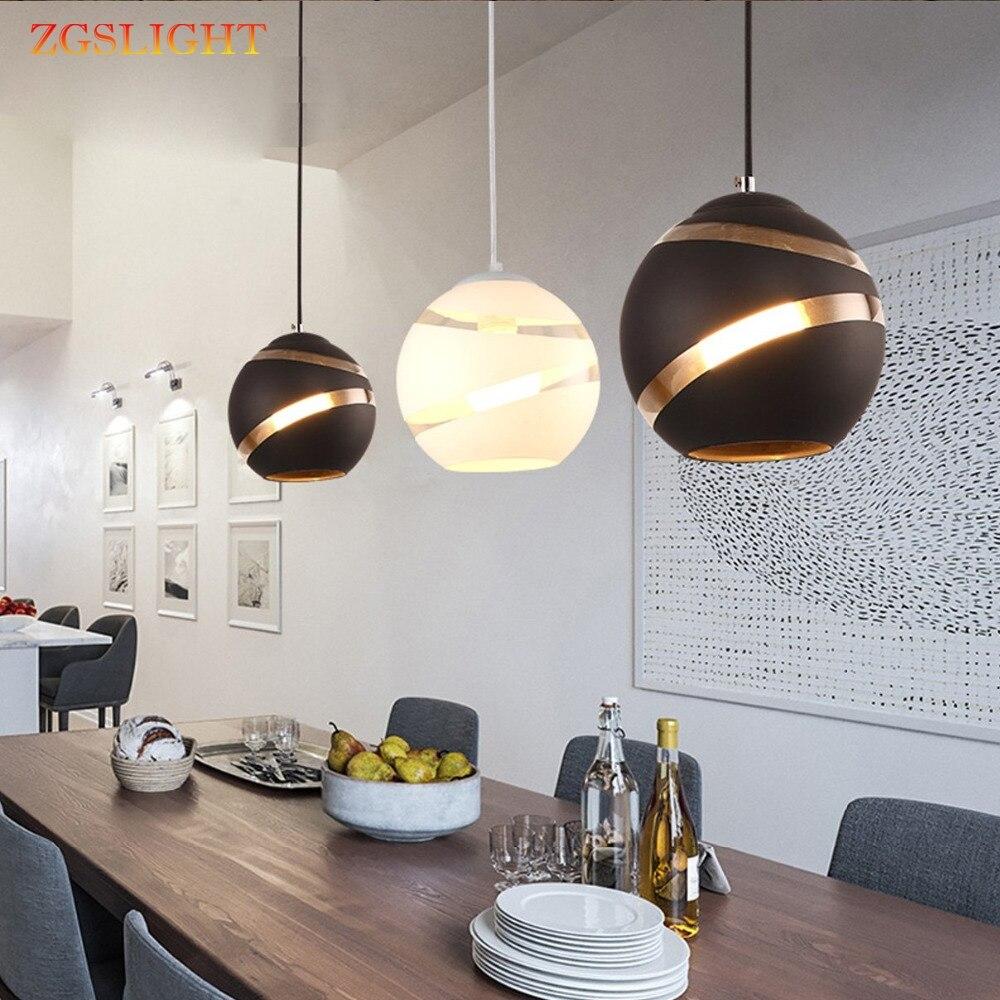 Современный стеклянный круглый шар подвесные светильники E27 светодиодный подвесной светильник дизайнерский минималистичный Лофт светиль