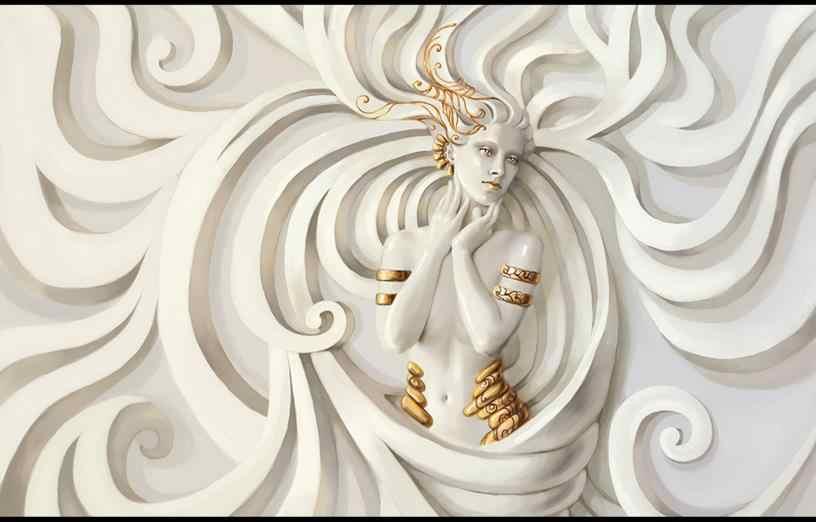 3d обои, живопись рельефная скульптура, красота на заказ, 3d стереоскопические обои, фотообои для гостиной, спальни, нетканые обои