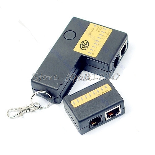 Super Mini Network LAN Cable Wire Cat5 RJ11 RJ45 Tester Drop Ship(China)