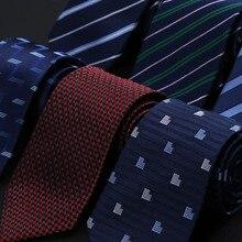 8CM nouveau luxe 100% naturel soie cou cravate pour hommes chemise formelle géométrique rayé points cravates mariage fête cadeaux pour hommes cadeau