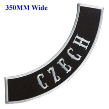 350mm wide 3 colors Czech biker patches iron on embroidered patches for clothing/motorcycle jackets embroidery rocker patches
