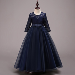 Image 2 - 새로운 어린이 결혼식 신부 들러리 파티 드레스 소녀의 생일 파티 성능 공 아름다움 파티 드레스 vestidos de fiesta