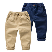 Hot Sale 2017 Autumn Casual Pants Baby Boys Pant Children Clothing Kids Cotton Trousers Boy's Trouser Child Clothes Solid Color