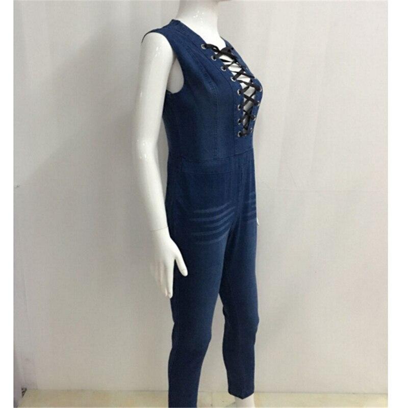 1cdab47d94c1 Batoneur blue jean bodysuit skinny denim jumpsuit women Sexy Rompers ...