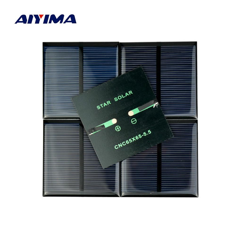 Aiyima 5pcs X 0 6w 5 5v 90ma 0 5w 5v Polycrystalline Solar