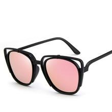 Fashion Cat Eye Glasses  Women Sunglasses Brand Design Sunglasses Hollow out  Frame Sunglasses Oculos de sol UV400 цена