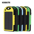 Kabeite Solar  Mobile Phone Powerr Bank  Battery  solar charger  6000mah Universal Outdoor camping Waterproof and anti fall