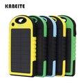 Kabeite Teléfono Móvil Solar cargador de Batería solar 6000 mah Universal Del Banco Powerr acampar Al Aire Libre A Prueba de agua y anti caída