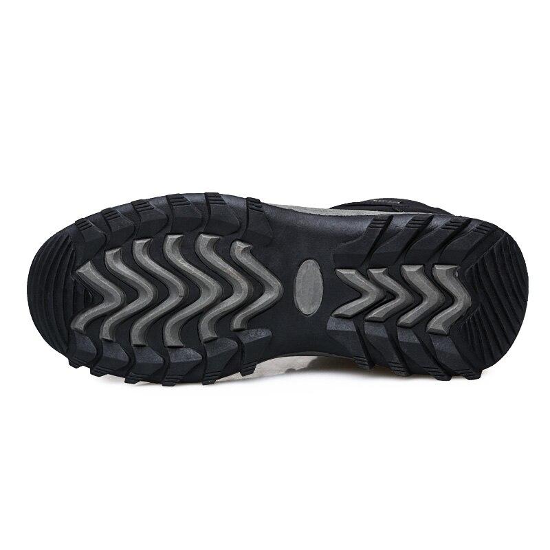 d06afa65a0 Aliexpress.com  Comprar Más tamaño 48 invierno hombres botas de trabajo  informal Pu felpa caliente Zapatos Hombre plataforma botines exterior  Hightop ...
