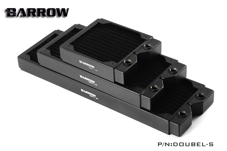 Barrow Black 360MM Double-s High-density double wave water cooling computer case copper radiator 34MM support 2cm fan,120MMX3