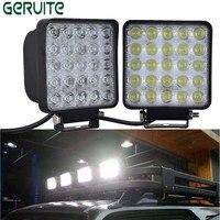 2PCS Wholesale 12 24V 75W Square Shape Cool White LED Work Lights Spot Beam 25 LEDS
