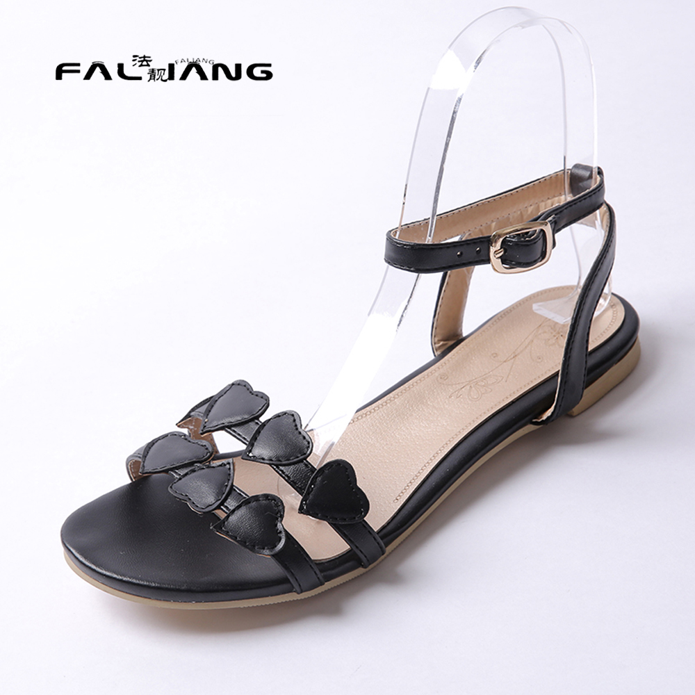 Womens sandals in size 11 - Big Size 11 12 13 14 15 Sweet Solid Peep Toe Buckle Strap Casual Sandals Women S