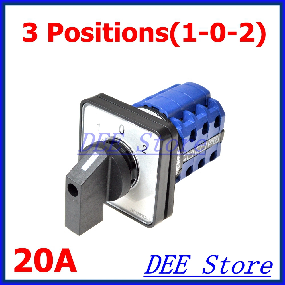 LW28-20/3 Rotary Selector 3 Positions Universal Changeover Switch 16a 500vac 12 screw terminal 4 positions universal changeover switch