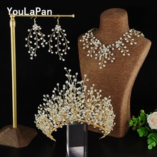 YouLaPan HP193-G Bridal Tiara Wedding Hair Crown Bride Accessories Jewelry
