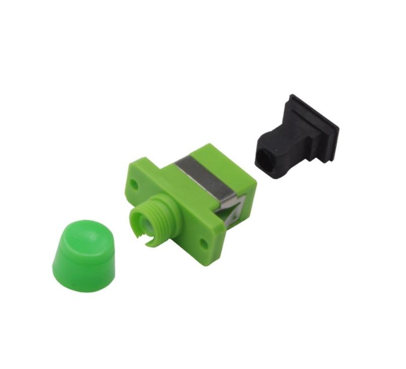 Image 2 - QIALAN FC/APC to SC/APC Hybrid Simplex Singlemode Plastic Fiber Optic Adapter, Female to Female-in Fiber Optic Equipments from Cellphones & Telecommunications