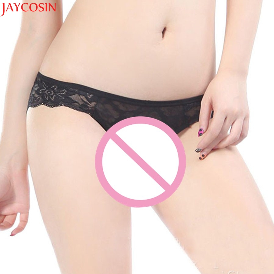 Jaycosin 2017 New Sexy Fashion Lace Bow Lingerie Underwear Womens Panties Briefs Hot transparent underware Dec15