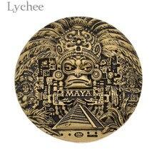 Lychee Life Vintage Tailandia imán de nevera Maya 3D redondo refrigerador decoración hogar cocina recuerdos turísticos