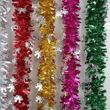 10 pcs/lot Party Tinsel Ribbon Garland Christmas Tree Decoration Home